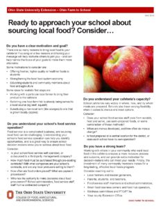 Start sourcing local food