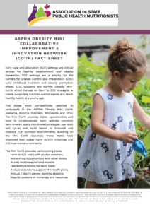 photo of child gardening and text describing Farm to ECE project