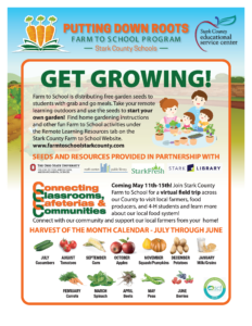 """colorful flyer titled """"Get Growing"""""""
