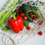 vegetables in mesh bag
